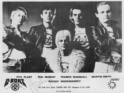 Phil Plant - Bass Guitarist pictured here with band mates from Woody Woodmanseys U-Boat used with permission from Hilco Arendshorst